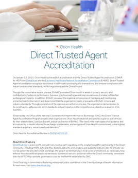 Direct Trusted Agent Accreditation