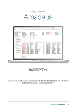 Amadeus Data Sheet - Chinese