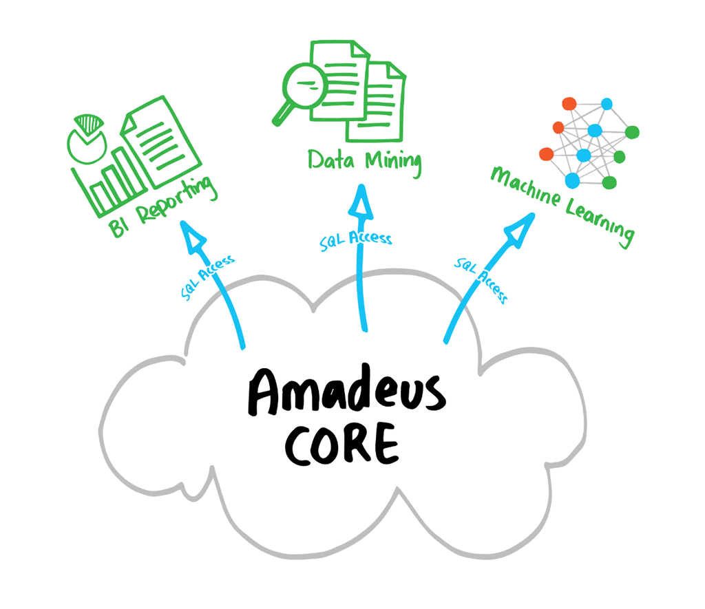 Amadeus-Core data access for reporting and analytics